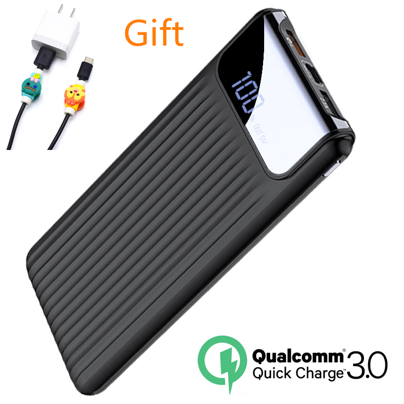 Quick Charge 3.0 Power Bank 10000mAh Dual USB LCD Powerbank External Battery Charger For Mobile Phones Tablets Poverbank ChargerQuick Charge 3.0 Power Bank 10000mAh Dual USB LCD Powerbank External Battery Charger For Mobile Phones Tablets Poverbank Charger