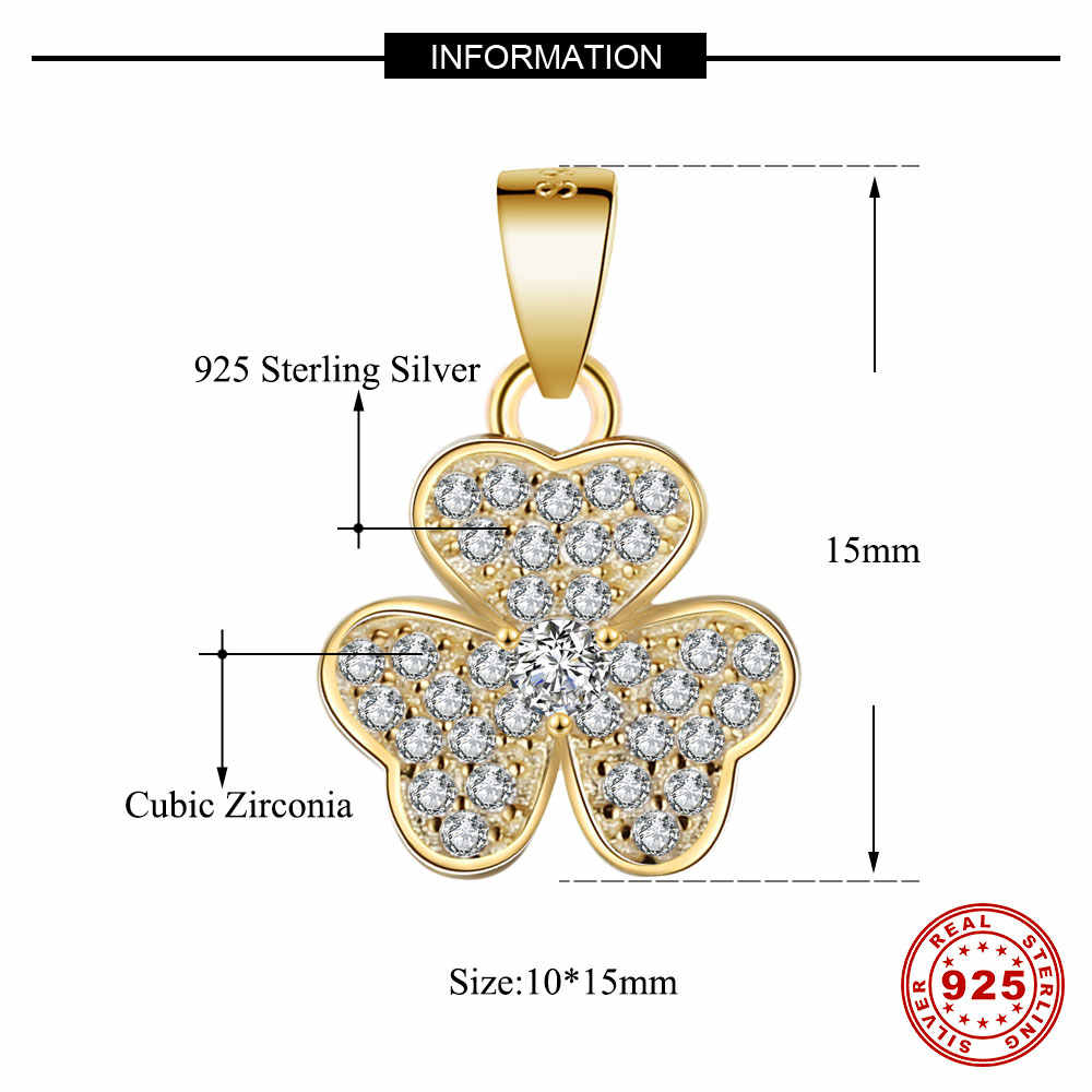 100% 925 Sterling Zilver Lucky Clover Zon Bloem Daisy Kleine Charm Hanger Voor Vrouwen Ketting Sieraden Maken Charms Gift