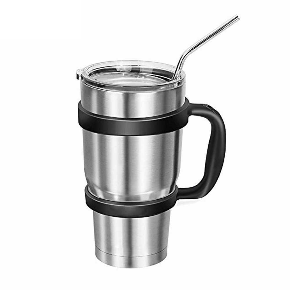 4Ps respetuoso del medio ambiente doblar Metal paja de acero inoxidable pajillas reutilizables para la cerveza, bebida de jugo de fruta