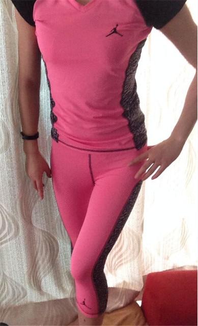 Girls Jordan Shirts Elastic Fabric Lady Girls Training Tights