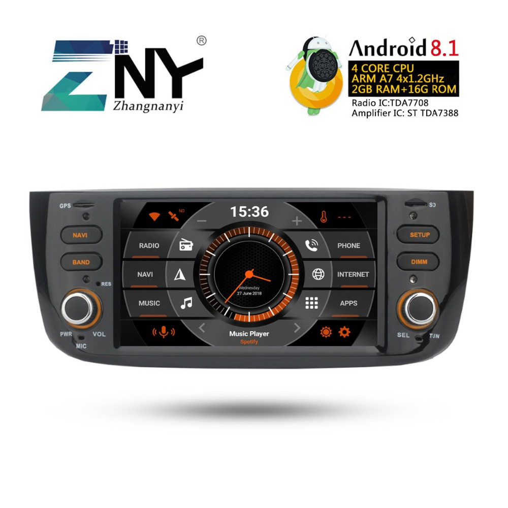 Image 2 - Android 8.1 Car Audio Video For Fiat Grande Punto Linea 2012 2013 2014 2015 Radio FM RDS WiFi GPS Navigation Rear Camera No DVD-in Car Multimedia Player from Automobiles & Motorcycles