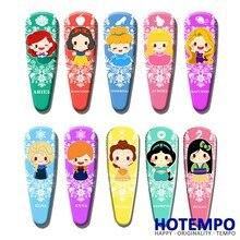 Rapunzel Elsa Anna Snow White Belle Jasmine Cinderella Mulan Aurora Mermaid Ariel Princesses BB Hair Pins Clip Accessorie