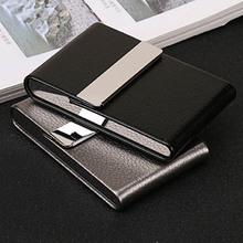Akcesoria do palenia papierośnica 1 PC pudełko do przechowywania cygar karta wielofunkcyjna ze stali nierdzewnej PU pojemnik na tytoń tanie tanio Matowe B650925