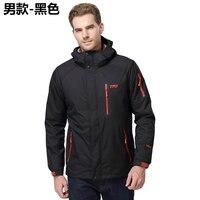 TFO Men Women Hiking Jackets Winter 3 In 1 Windstopper Waterpoof Outdoor Sportswear Hooded Rain Coat