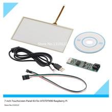 Skylarpu 7 pulgadas 165mm * 100mm Panel de Pantalla Táctil Kit para Pi Frambuesa AT070TN90 LCD Cristal de la pantalla táctil Libre gratis