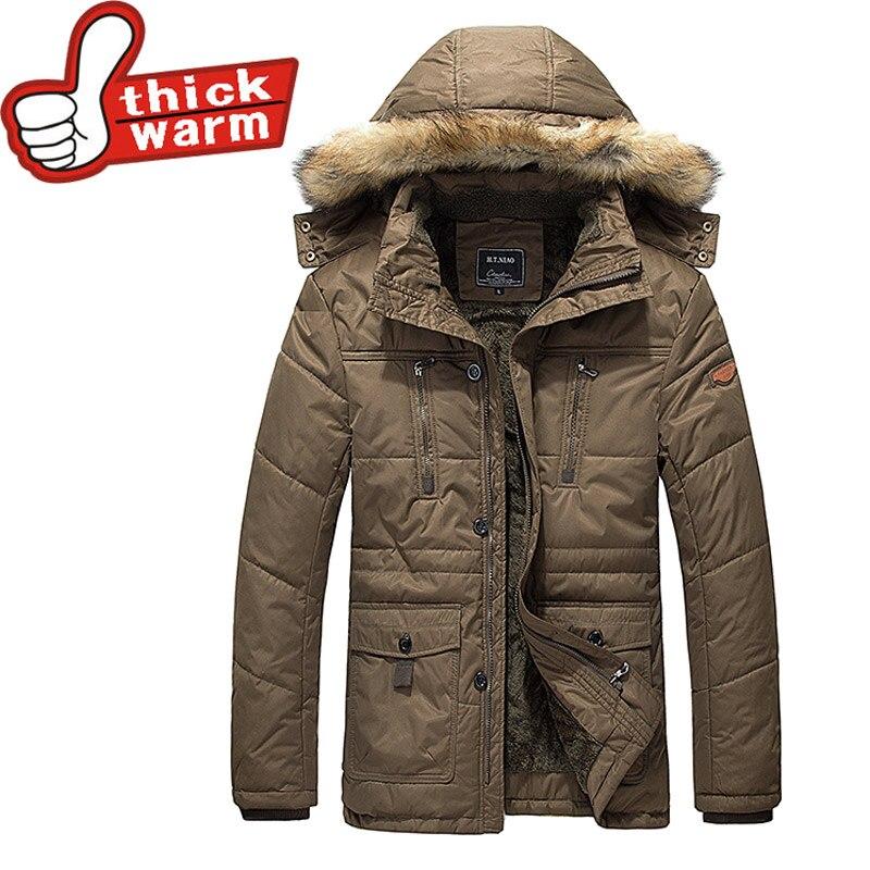 Vêtements Black Coton Chaud Outwear À Ouaté Hommes Manteau Casual 100 Capuche khaki Parkas vent Vestes Épais Coupe Homme Hiver Marque wTqIU7Wzz