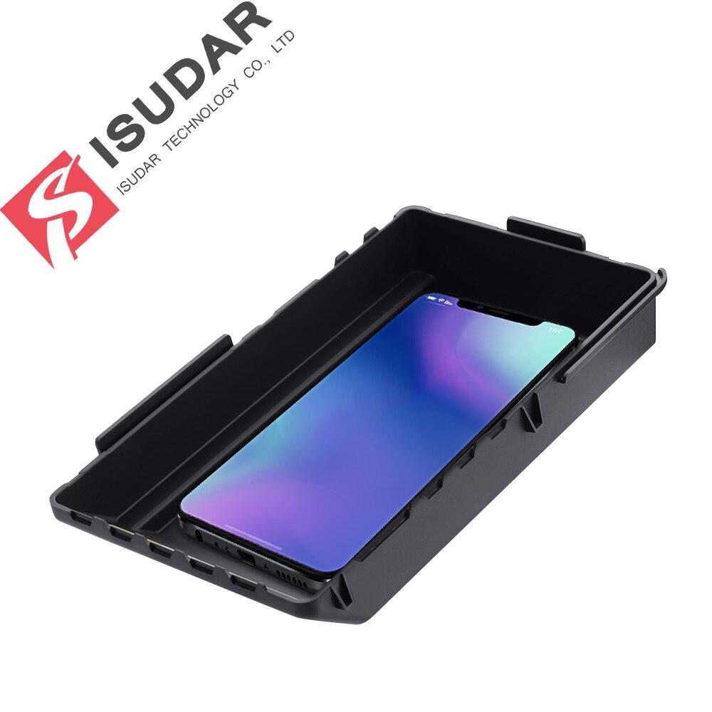 Chargeur sans fil de voiture ISUDAR 10 W Qi chargeur sans fil rapide automatique pour Skoda/Kodiak pour iphone 8 X pour Samsung pour Huawei