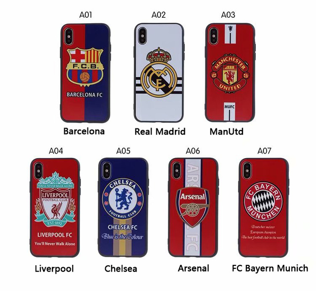 1d7c6461b Fc Barcelona Real Madrid MUFC Liverpool Chelsea Fans Phone case for iPhone  5 5S SE 6 6s 7 8 plus X XR XR MAX Football Team cover
