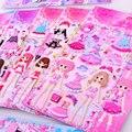 Красота принцесса одеваются наклейки для маленьких девочек 3D одеваются стикер игрушки Дети День Рождения вечерние подарки развивающие сме...
