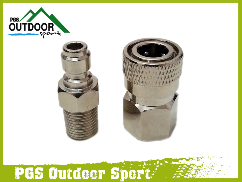 Paintball PCP  Air Gun Rifle 8mm Quick Release Disconnect Coupler Fitting Male & Female Kits 1/8npt