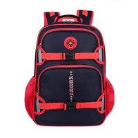 2015 Boy Orthopedic School Bag Kids Ergonomic Elementary Backpacks Children Large Waterproof Safe Reflective Stripe Nylon