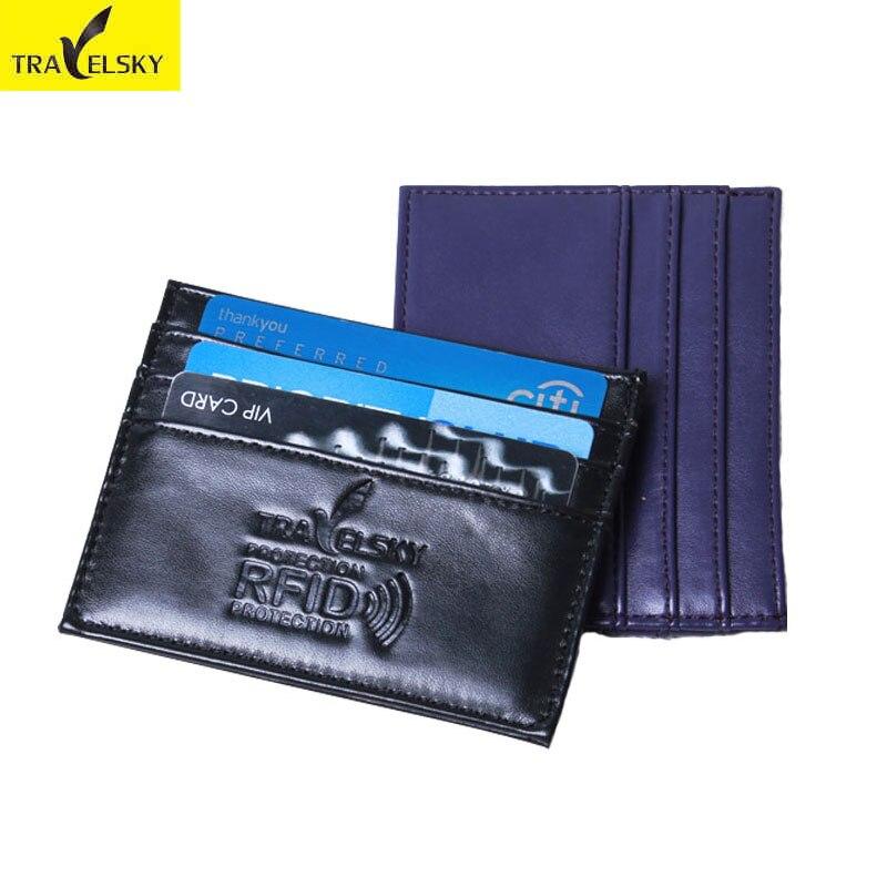 מחזיק כרטיס RFID חיקוי עור לקחת 3 כרטיסי - ארנקים