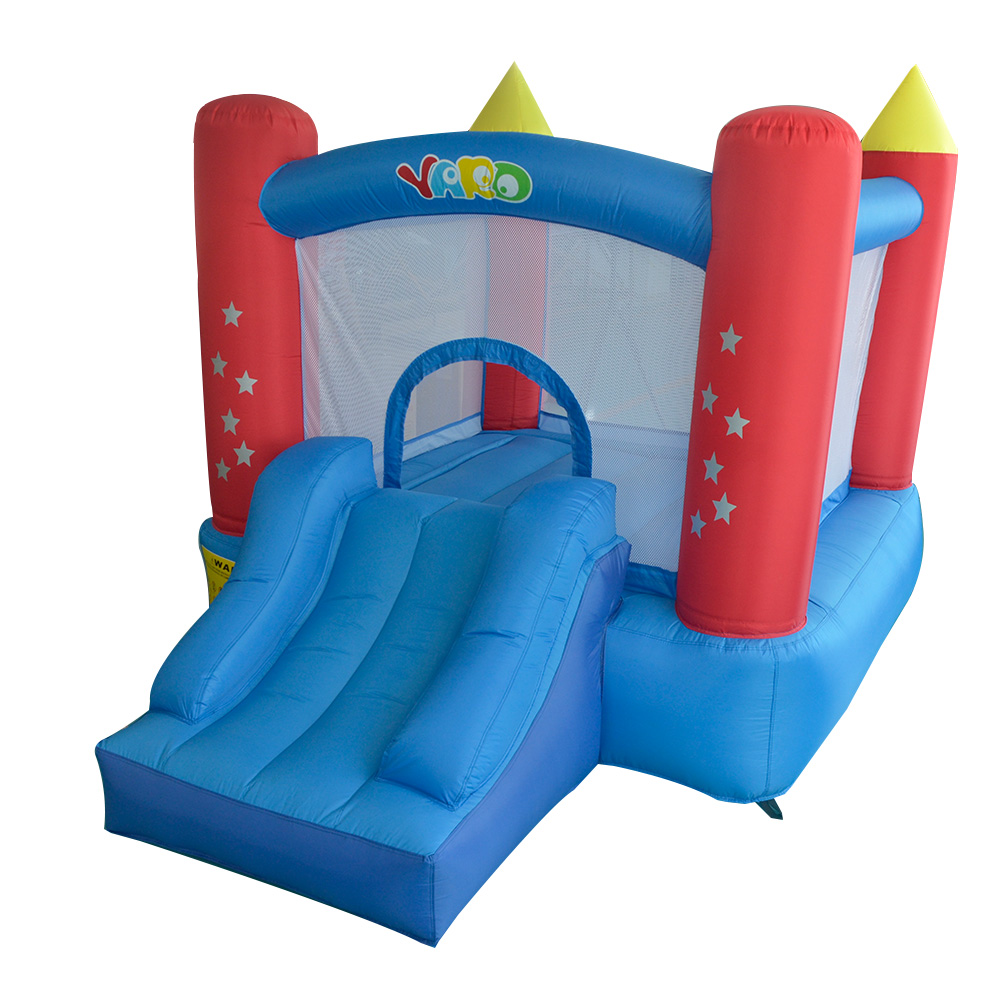 Residebtial Blue Star Bounce House Inflatable Trampoline For Kids Jumpling Castle Inflatable Slide Bouncy Castle giant super dual slide combo bounce house bouncy castle nylon inflatable castle jumper bouncer for home used