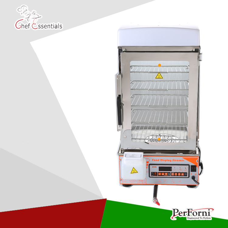 PKGM-600S  6 layer stainless steel    commercial food steamer commercial  electric bun steamer  bread steamer fast food leisure fast food equipment stainless steel gas fryer 3l spanish churro maker machine