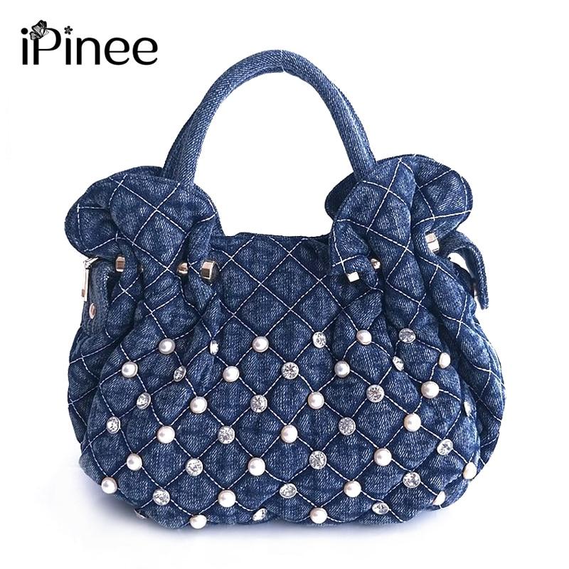 2019 iPinee Brand Casual Denim Tote Womens Handbag Shoulder Crossbody Handbags Canvas Small Bags For Women2019 iPinee Brand Casual Denim Tote Womens Handbag Shoulder Crossbody Handbags Canvas Small Bags For Women
