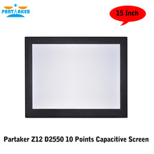 Partaker Z12 Dual Lan 10 Points Capacitive Touch Screen All In One PC 15″ With Atom D2550 Dual Core 1.86Ghz