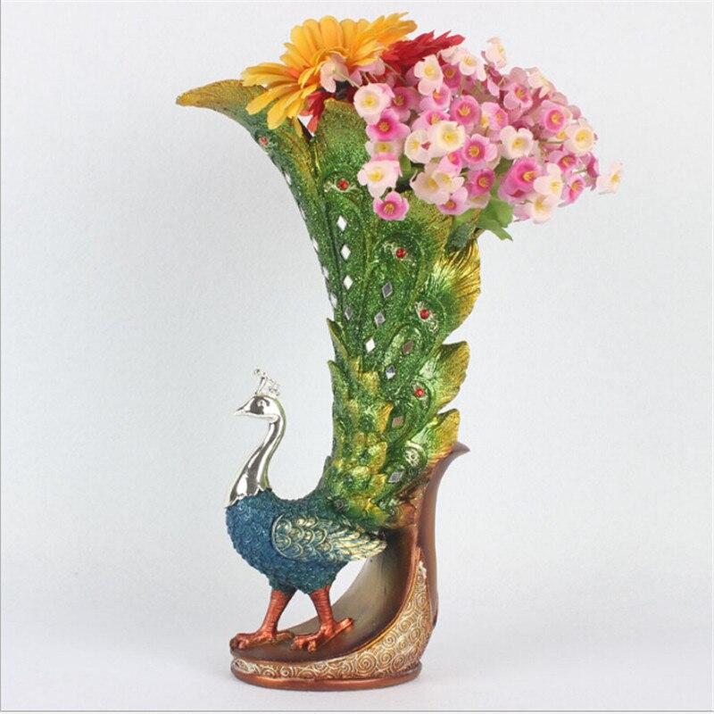 3 Farbe Ornamente Vasen Mode Kreative Einrichtungs Pfau Dekoration Wohnzimmer Kunst Und Handwerk VaseChina