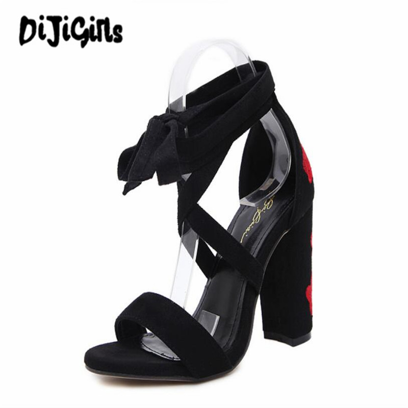 new spring summer slip on shoes for women 2017 ladies low heels sandals women embroidery shoes women black sandals floral shoes NEW Women Sandals 2017 Summer Shoes Floral Print Sandals High Heels Gladiator Women Shoes Lace Up Zapatillas Mujer Black/Blue
