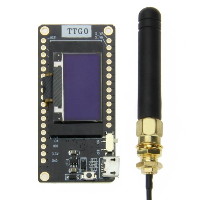 TTGO LORA32 V2.0 433/868/915 mhz ESP32 LoRa OLED 0.96 inch Sd-kaart Blauw Display Bluetooth WIFI ESP32 ESP-32 Module met Antenne