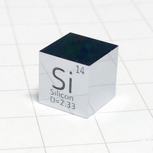 лучшая цена Silicon Polished Cube Si Mirror Shining Refining Crystal Element Collection Science Experiment 10x10x10mm Density Development