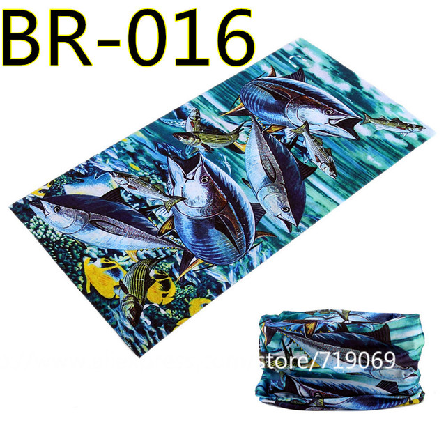 BR001-032 2018 wholesale Newest 100% Polyester Microfiber Fishing Bandana Seamless Tubular Bike Neck Tube Scarf  Headband
