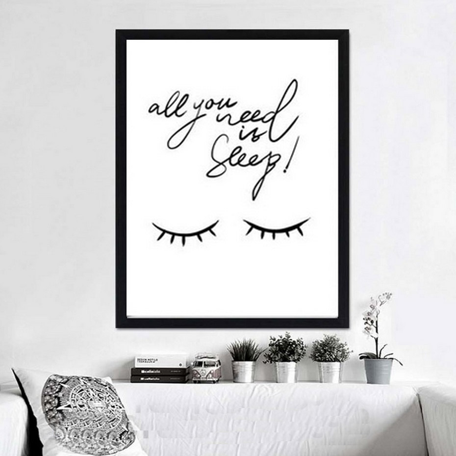 Aliexpress Com Buy All You Need Is Sleep Quote Canvas