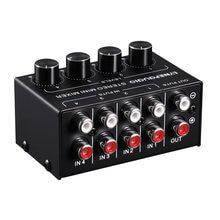 Мини стерео rca 4 канальный пассивный миксер без потерь аудио