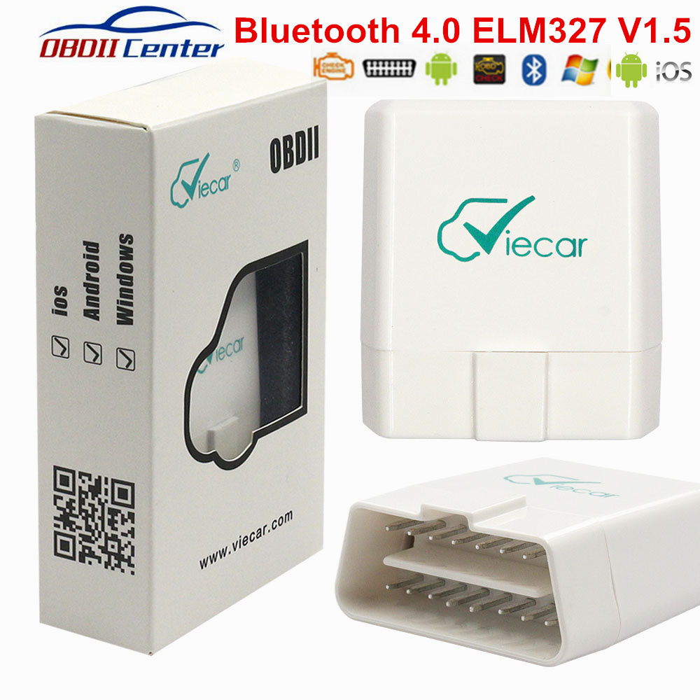 Viecar OBD2 Bluetooth 4.0 ELM327 IOS Andorid PC ELM 327 V1.5 PIC18F25K80 OBD II Code Reader Viecar 4 OBD2 Diagnostic Interface