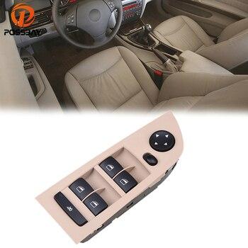POSSBAY Front Door Window Mirror Switch Control for BMW 3-Series E90 Sedan 2005-2011 Interior Accessories Beige Car Switch