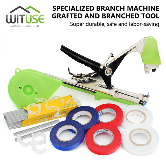 WITUSE Plant Tape Machine Clips Grafted Tools For Fruit Vegetable Climbing Plants Vines Stems Fixing Garden Plant Tape Tool