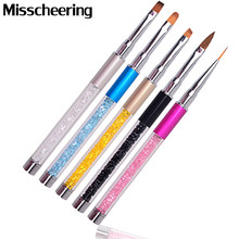 New 1pcs Professional Nail Art Design Brush Pen Drawing Lines Painting Carving Gradient UV Gel Salon Beauty Nail Tools(China)