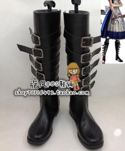 Anime Alice Madness Returns Default Cosplay Boots Shoes
