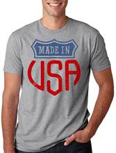 2017new Made In USA Stylish 4th of July Shirt USA T-shirt 100% Cotton Men Women T Shirt Tees Custom