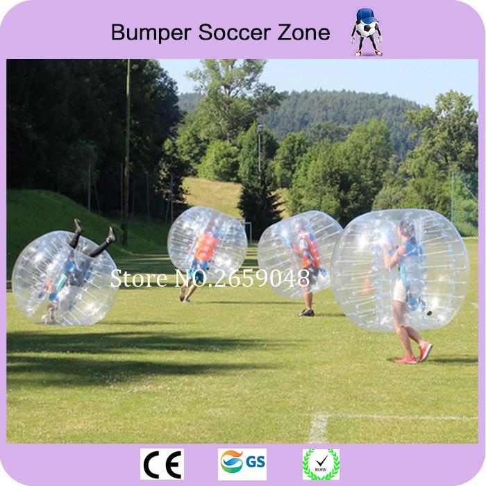 Envío gratis 1.5 m (5 pies) Burbuja inflable balón de fútbol Bumper Bubble Ball Zorb Ball Bubble Fútbol para adultos Juegos al aire libre