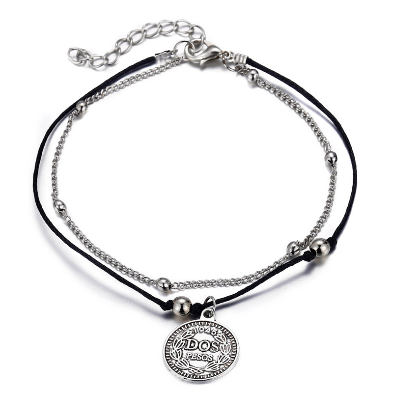 17KM Vintage Multi Layer Coin Anklets For Women Fashion Handmade