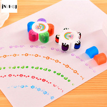 hot deal buy 1 pcs small plum flowers candy color stamp kids diy handmade scrapbook photo album stamps arts,crafts gifts free shipping