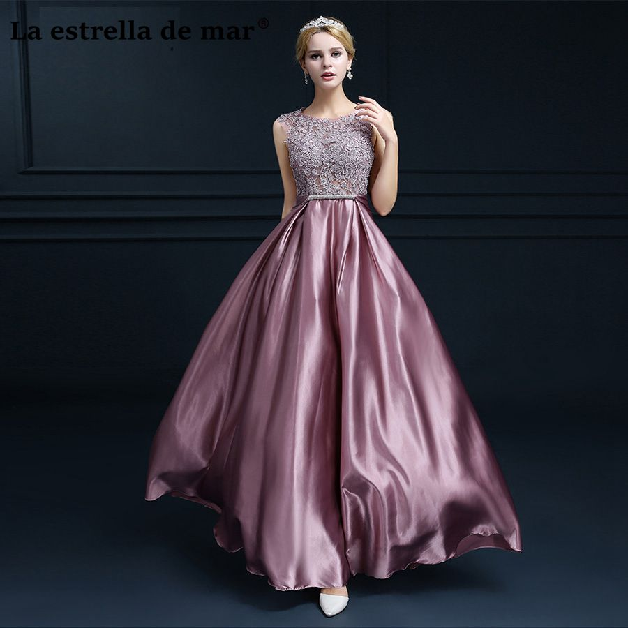 Vestido festa casamento2018 lace back open a Line blush Pink gold silver royal blue   bridesmaid     dresses   long elegant damigella