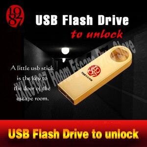 Image 5 - Room escape props real life adventurer game USB Flash Drive prop plug the usb disk U disk to unlcok from JXKJ1987 chamber room