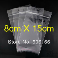 1000pc Lot 8 15 Cm Hanging Hole Clear Self Adhesive Seal Poly OPP Bag Plastic Packaging