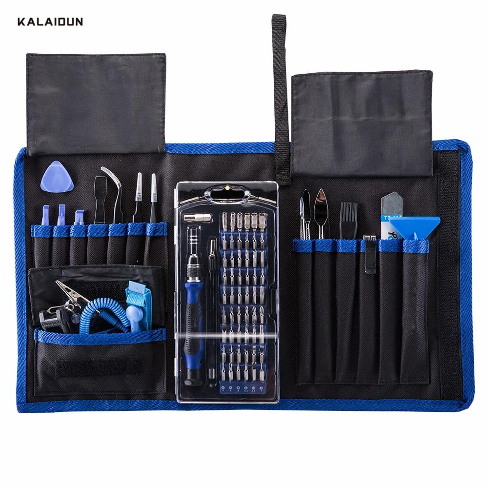 KALAIDUN 82 in 1 Precision Screwdriver Set Repair Tool Kit for Mobile Phone Computer Magnetic Screwdriver Hand Tools Set