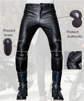 2017 fashion straight men's leather pants uglybros UBS021 pants motorcycle pants racing leather pants protection for motorcycle