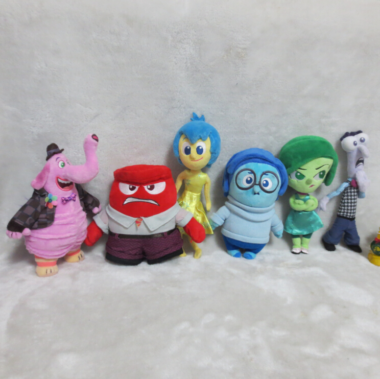 6pcs lot New Cartoon Movie in 2015 Inside Out Plush Toys Five Emotions Anger Joy Fear