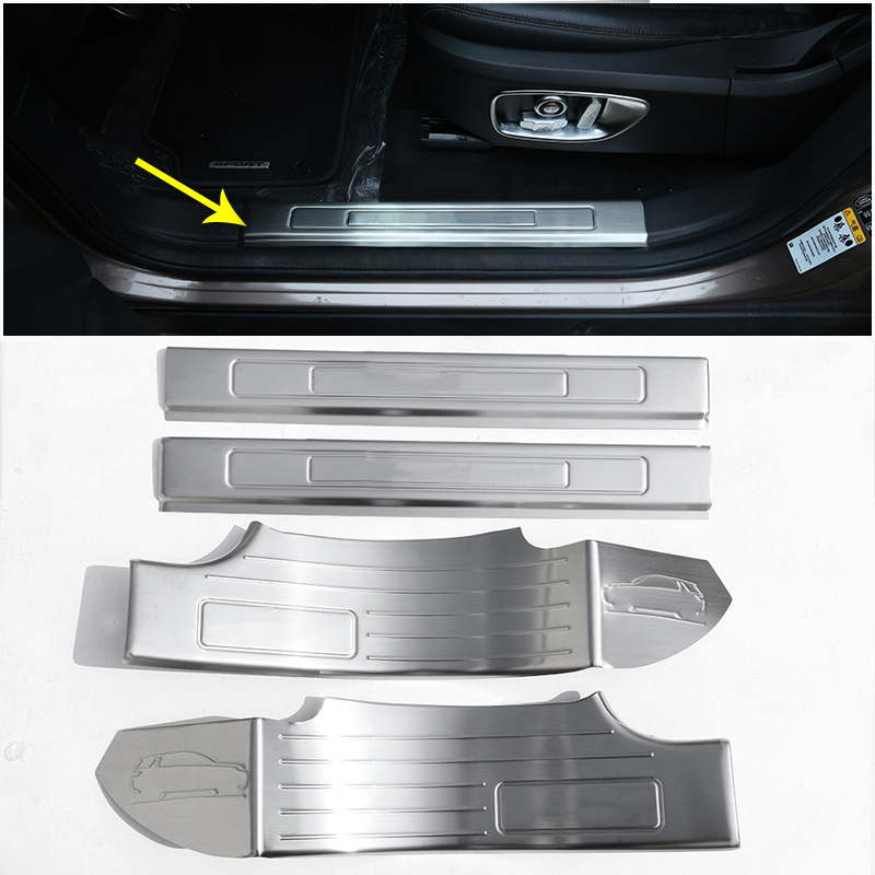 For Land Rover Discovery Sport 7 Seats 2015-2017 Door Sill Plate 304 Stainless Steel Protector Car Accessories 4pcs for land rover tdv6 discovery 3 4 range rover sport oil pump lr013487