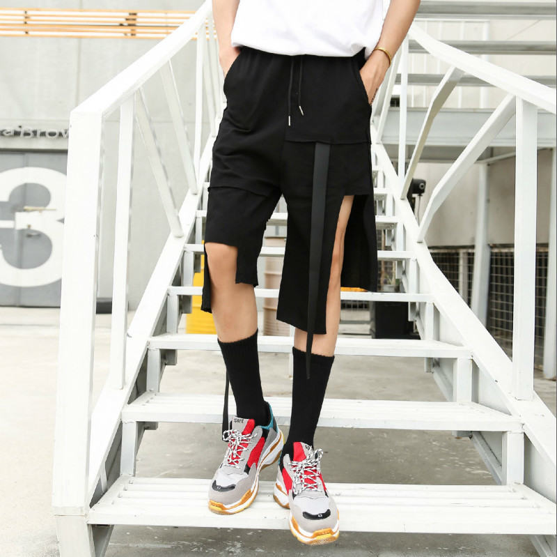 designer Pants Dark Weave Bring Easy Seven Part Hip Hop Skateboard Streetwear Personality City Boy Trend Exquisite Free shipping