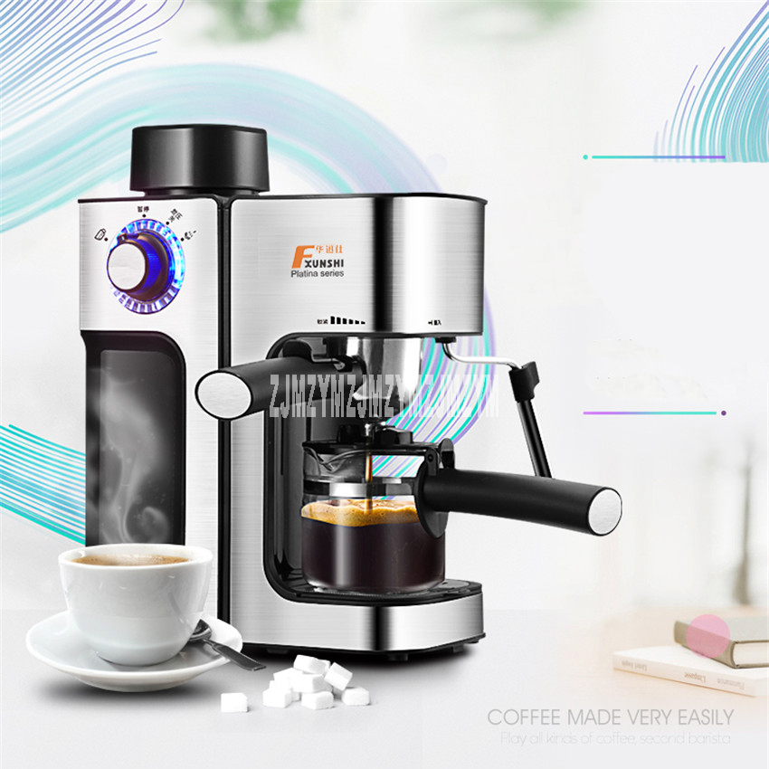 MD-2006 Italian coffee machine home stainless steel steam automatic coffee pot 220V / 800W 1pc 220v business home automatic italian coffee machine 1 2l coffee machine intelligent stainless steel italian coffee machine
