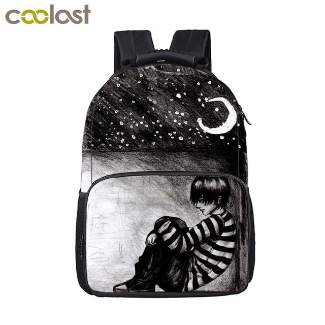 a99f9b859b Sad Angel Backpack For Teenage Boys Girls Children School Bags Travel  Shoulder Bags Men Women Laptop Backpack Kids Book Bag