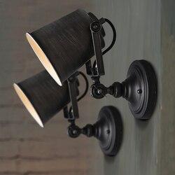 Loft z kutego żelaza amerykańska przemysłowa kinkiet Retro osobowości dziedziniec kawiarnia korytarz balkon kinkiet