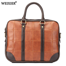 Men PU Leather Briefcase Laptop Bag Male Leather Bags Men Briefcase Handbags Multifunction Men's Travel Shoulder Bag 2019 New concise men s briefcase with pu leather and black design