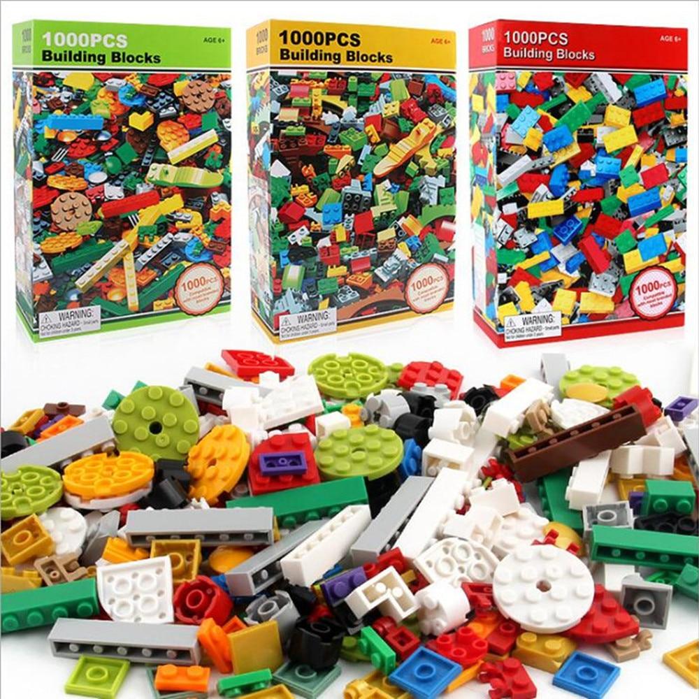 1000 pièces Briques Designer Créatif Classique Brique bricolage Blocs De Construction Jouets Éducatifs En Vrac Pour Enfants Enfants Cadeaux