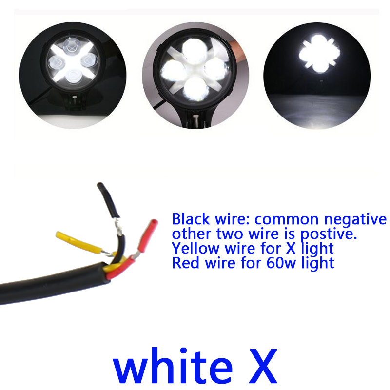 2pcs 60w Led Work Light 6inch Round Led Driving Lamp with White ...